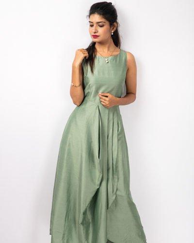 Sage green drape